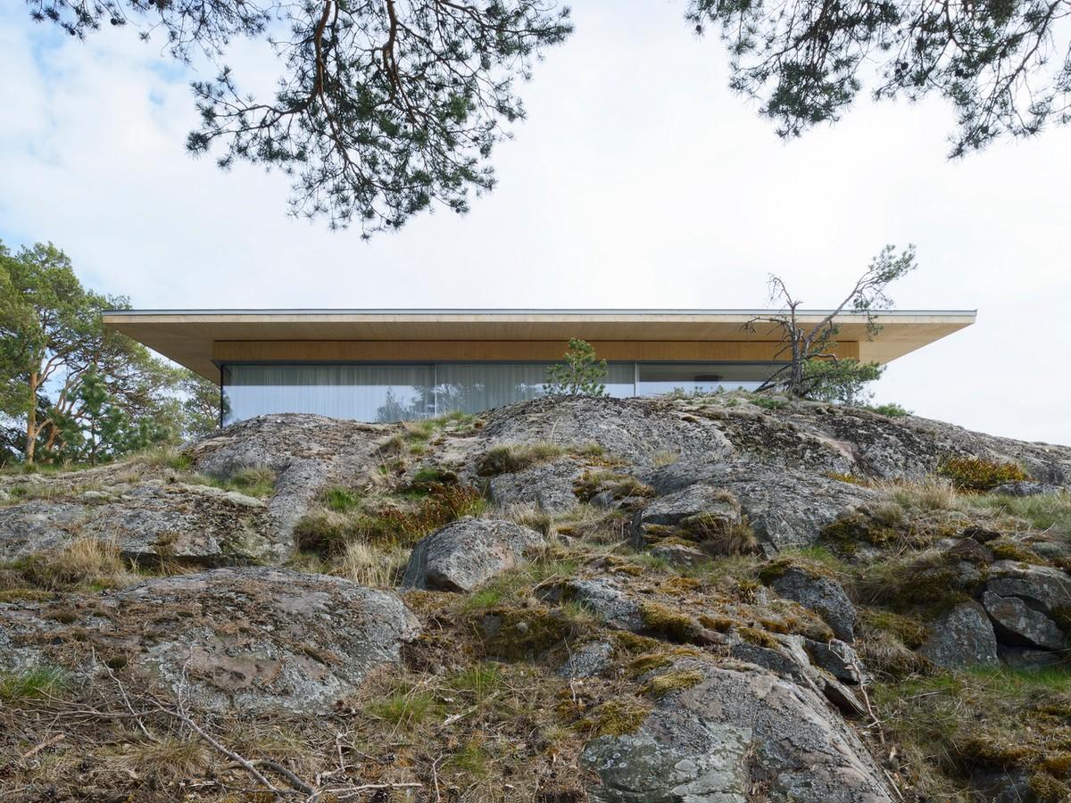 Современная резиденция на частном острове в Швеции
