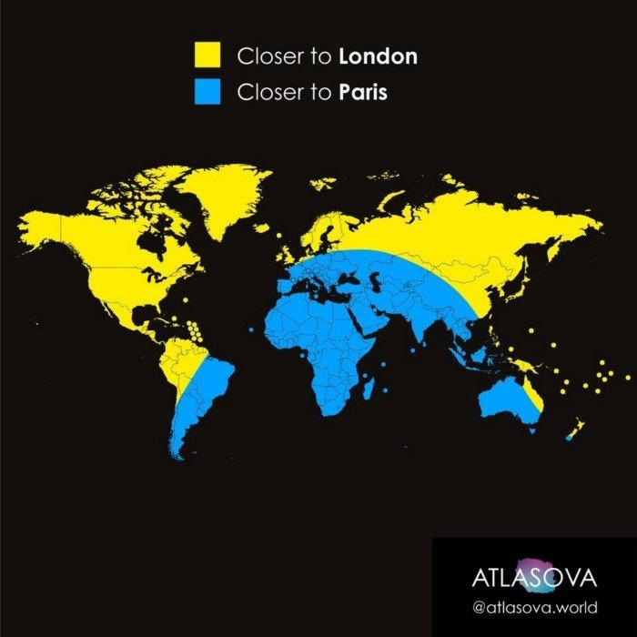Занимательные карты мира и интересные факты