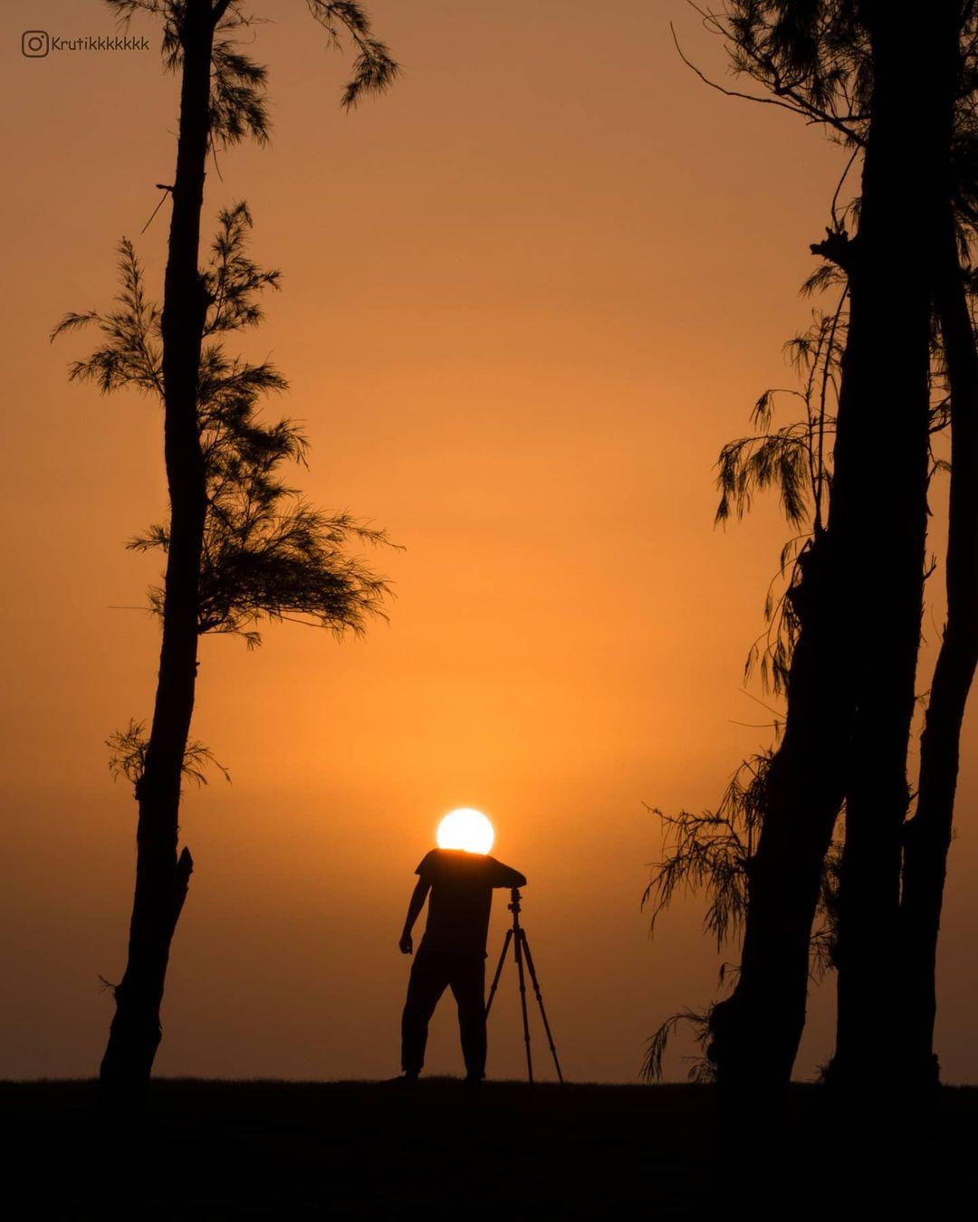 Индийский фотограф показывает, как можно небанально сфотографировать закат