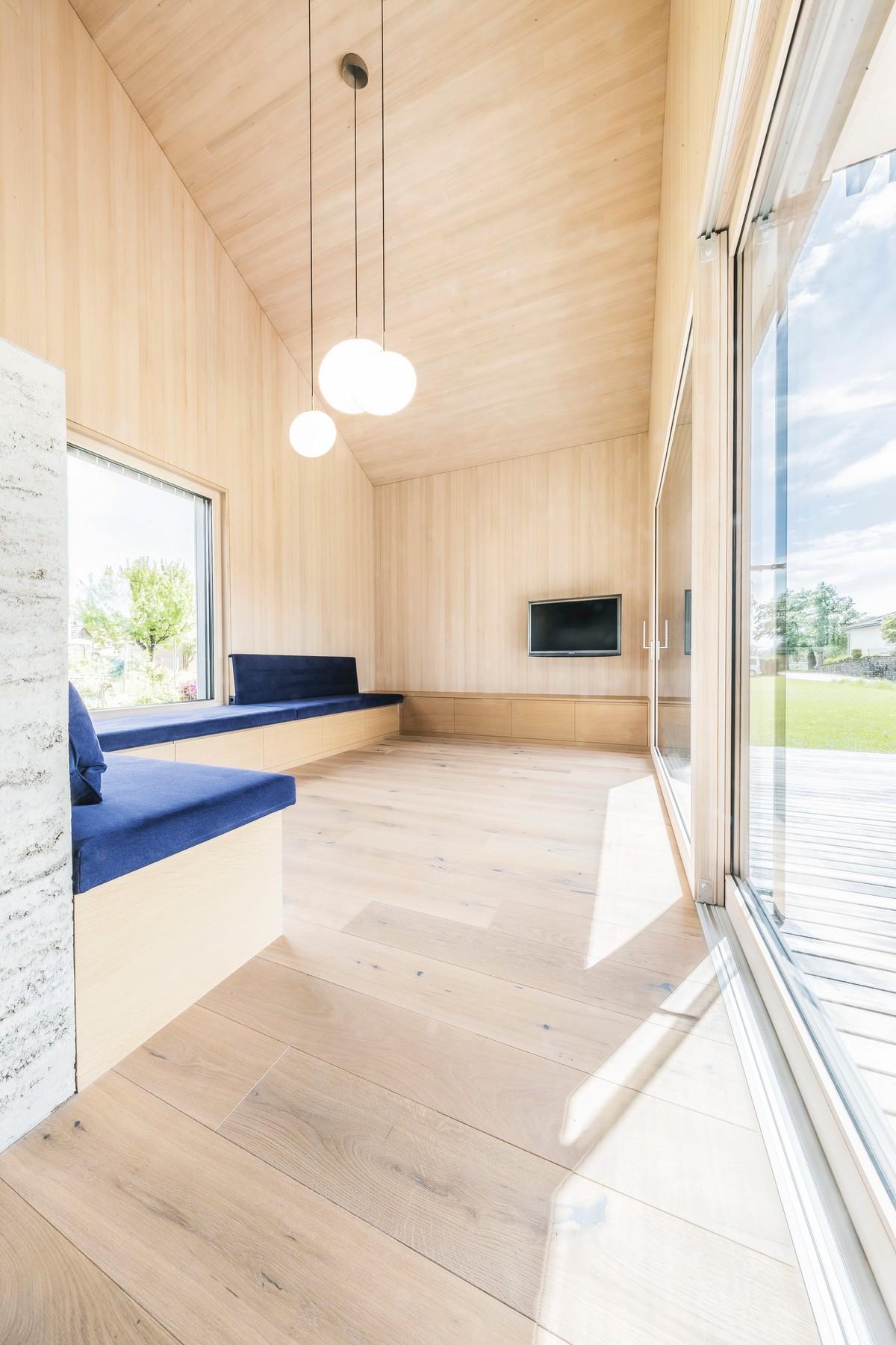 Тройной деревянный дом в Австрии