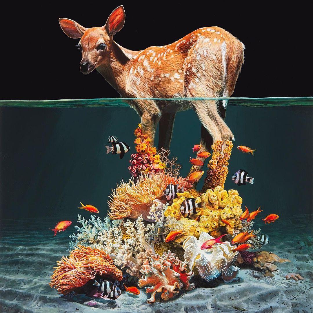 Животные между двух миров на реалистичных картинах Лизы Эриксон