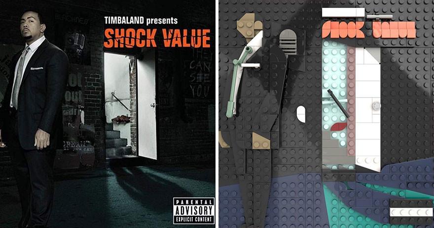 Обложки известных музыкальных альбомов из LEGO