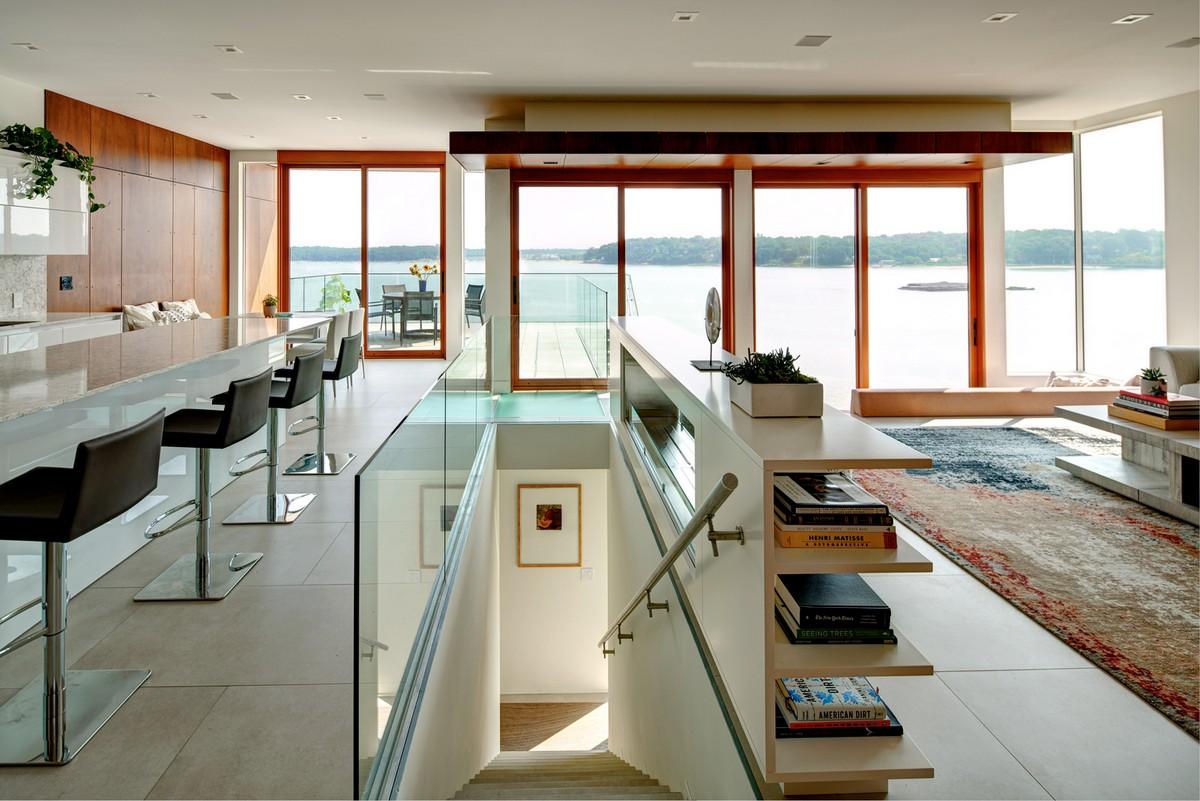Современный стильный дом на полуострове Порт-Вашингтон