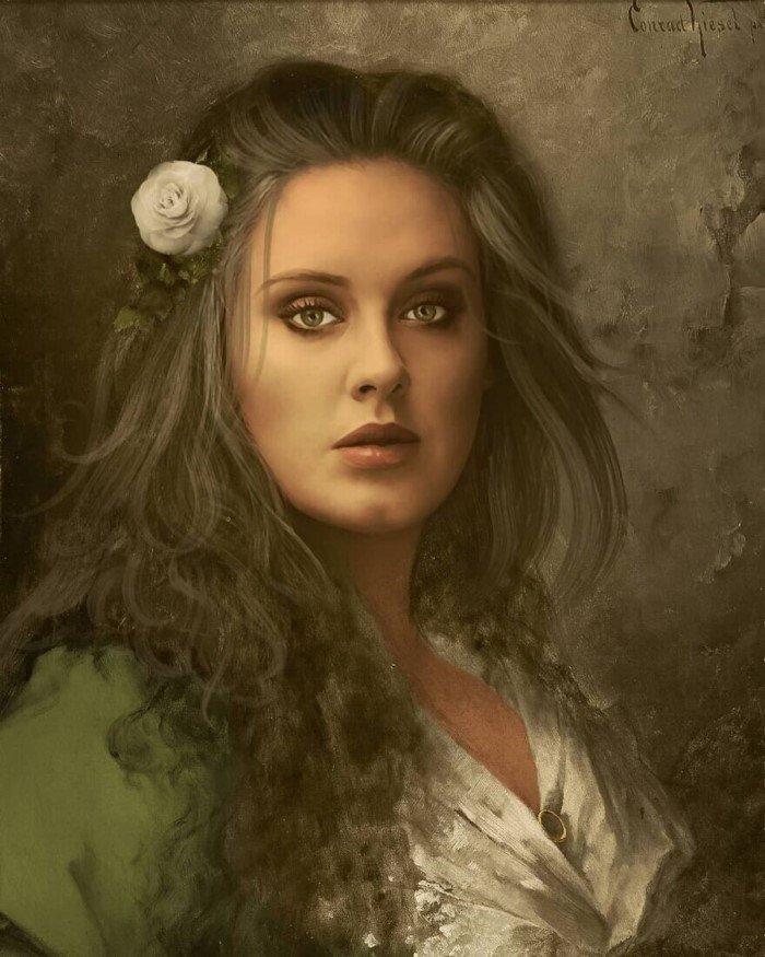 Французский художник рисует портреты знаменитостей в классическом стиле