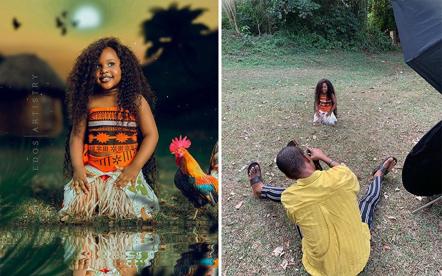 Фотограф приоткрыл закулисье съёмки и показывал, как создавались его снимки