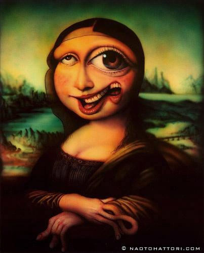 Картины японского художника Наото Хаттори, похожие на галлюцинации
