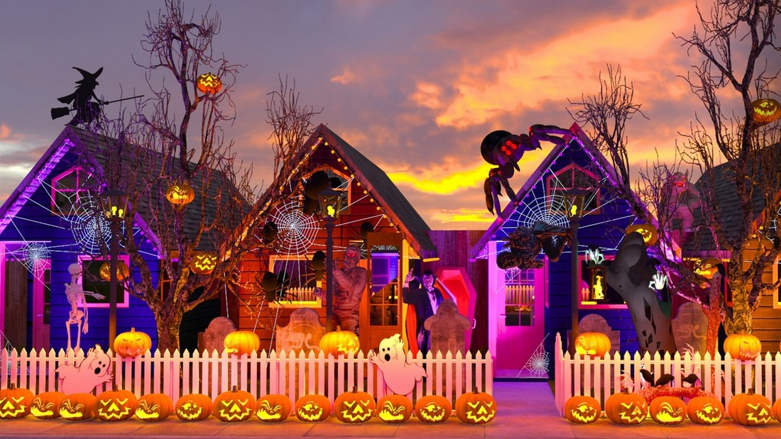 Семейная игровая площадка к Хэллоуину в Лос-Анджелесе