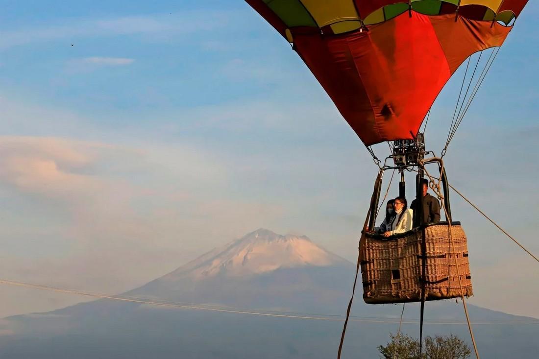 Фестиваль воздушных шаров Festival del Globo в мексиканском городе Пуэбла